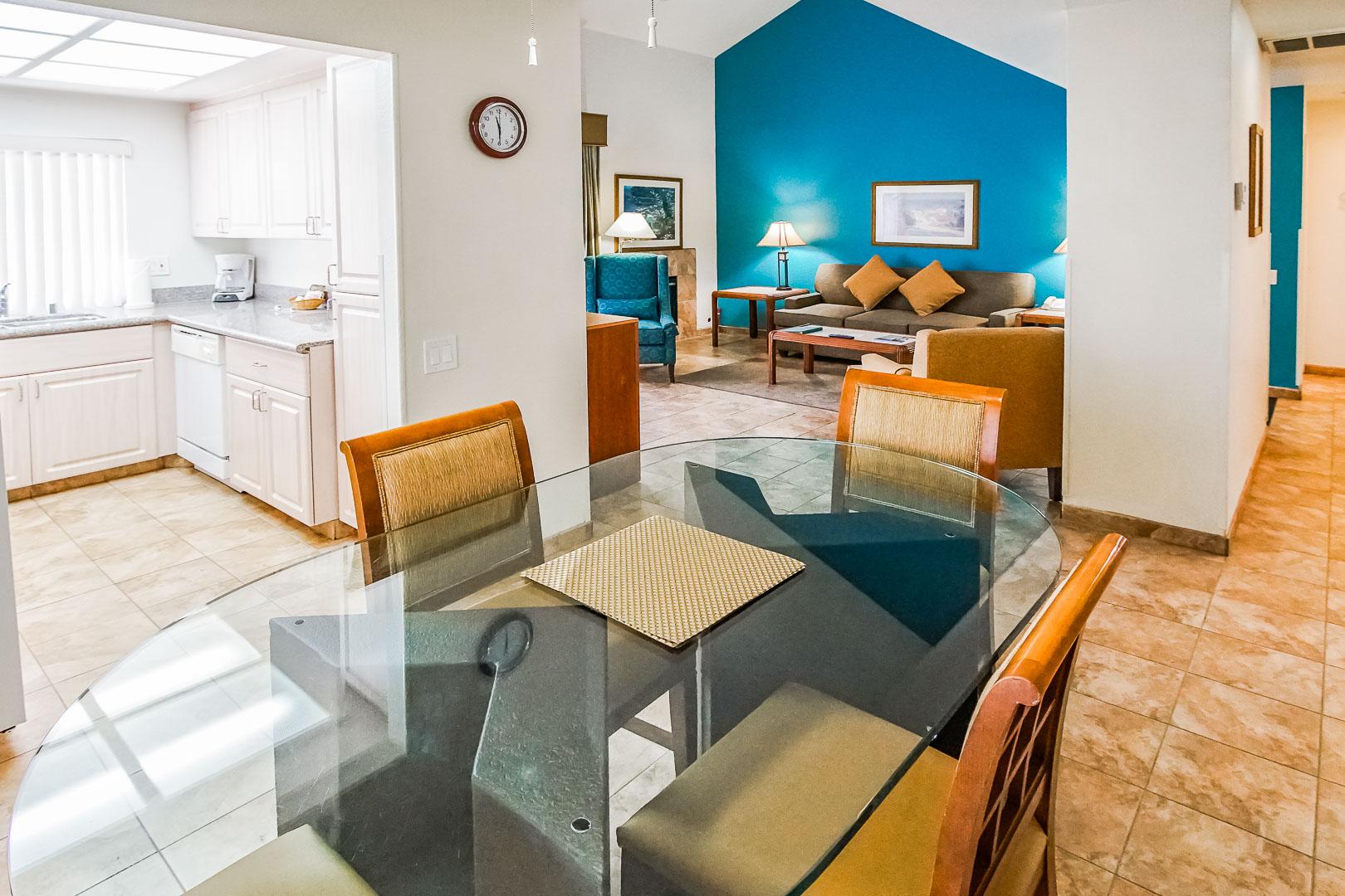 An expansive 2 bedroom unit at VRI Americas' Desert Breezes Resort in California