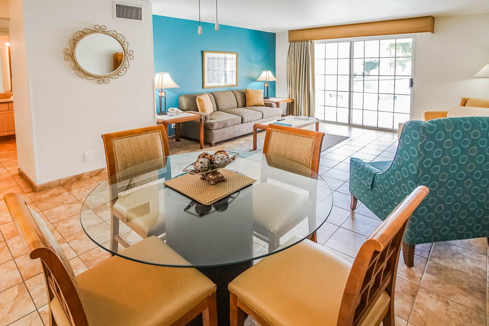 An upgraded living room area at VRI Americas' Desert Breezes Resort in California.