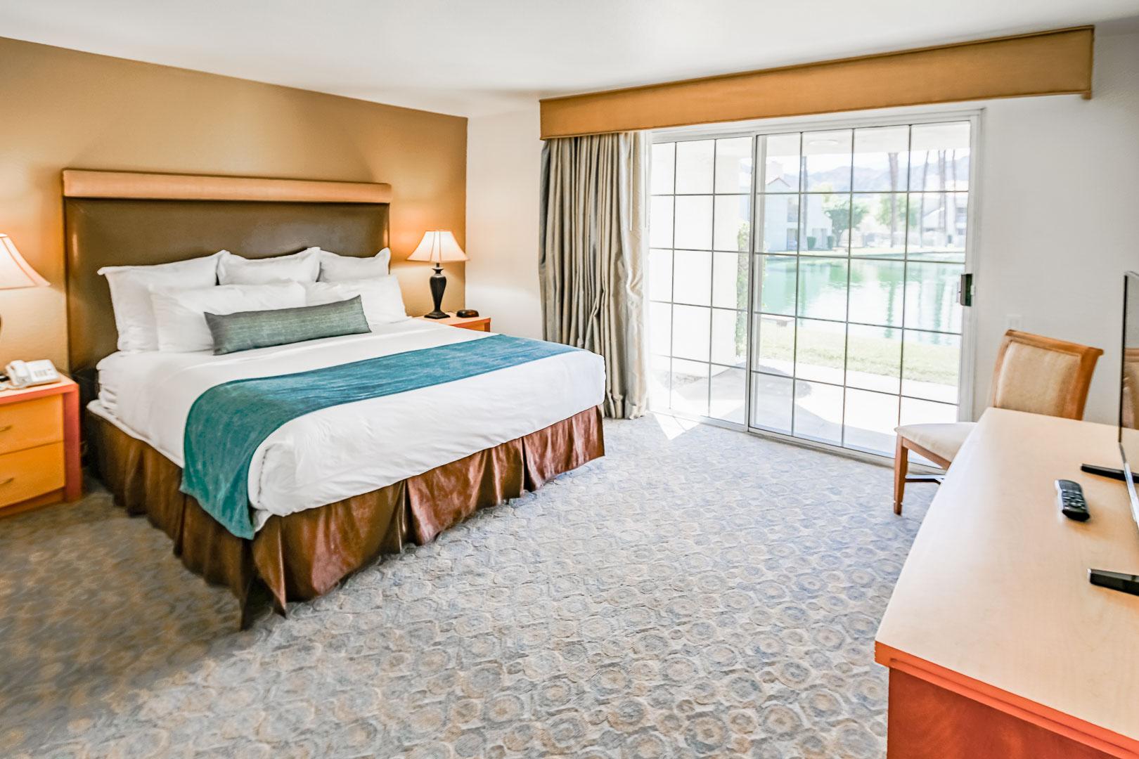 The lovely bedroom unit at VRI Americas' Desert Breezes Resort in California
