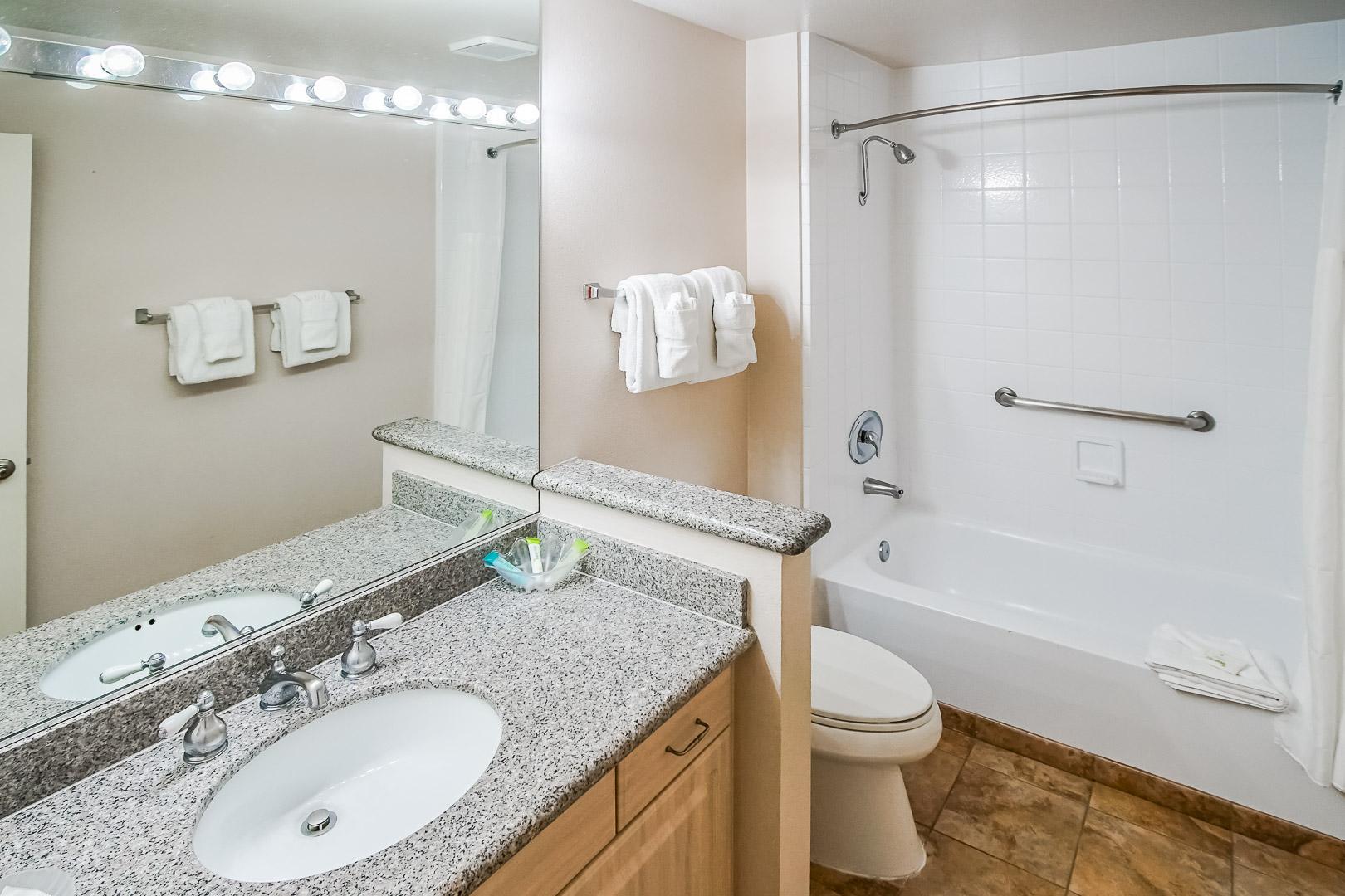 A refreshing bathroom at VRI Americas' Desert Breezes Resort in California
