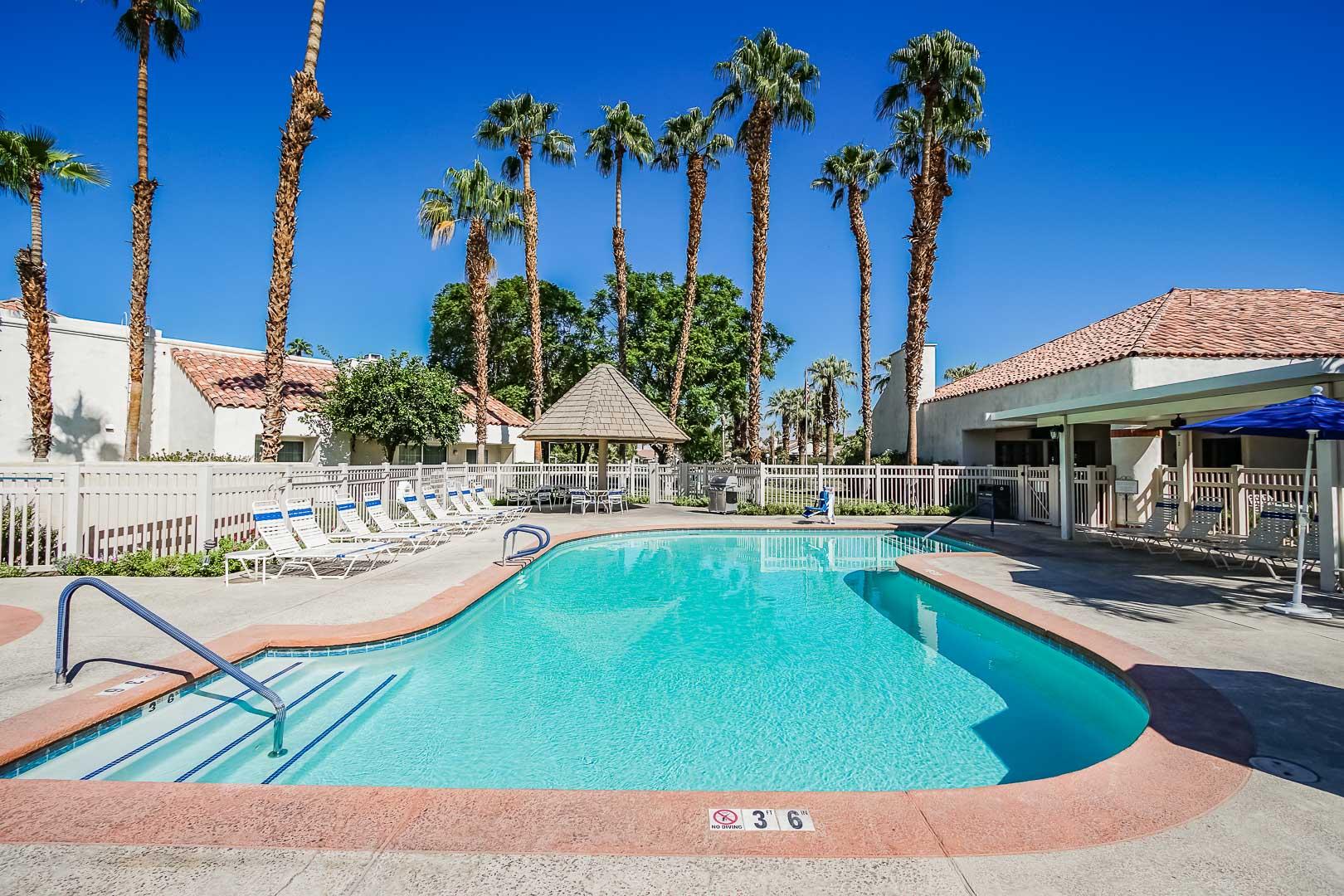 A crisp pool at VRI Americas' Desert Breezes Resort in California