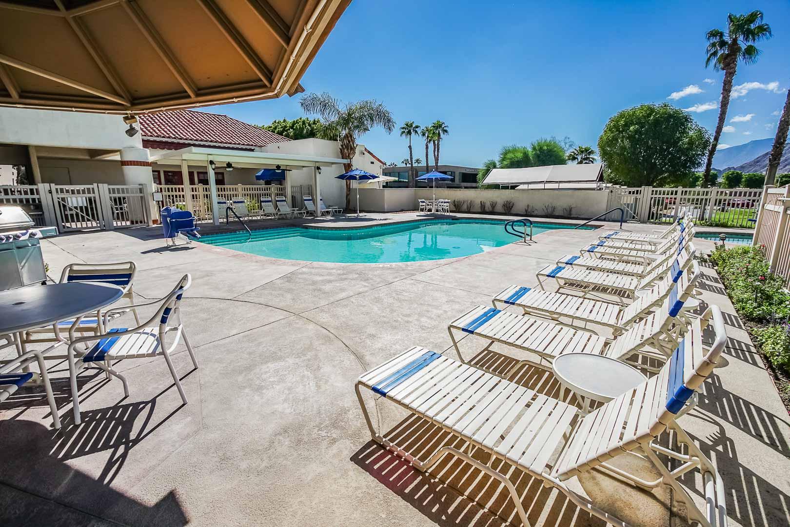 A soothing pool at VRI Americas' Desert Breezes Resort in California