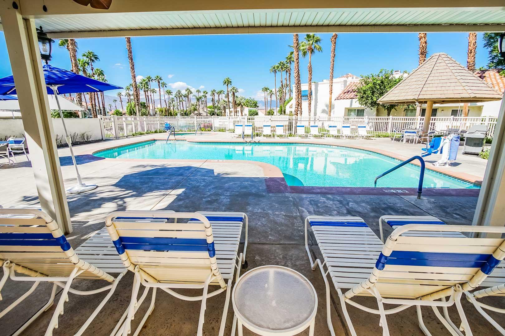 A scenic pool at VRI Americas' Desert Breezes Resort in California
