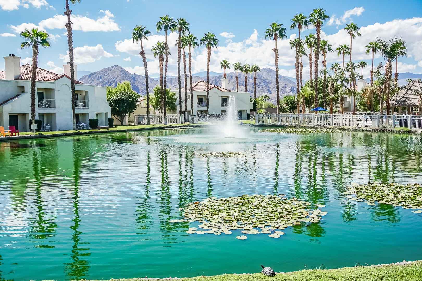 A peaceful view at VRI Americas' Desert Breezes Resort in California