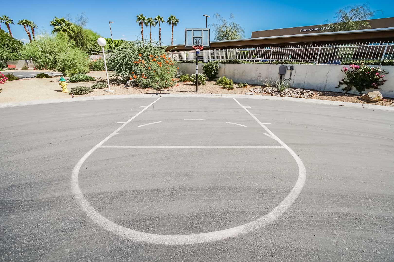 An expansive basketball court at VRI Americas' Desert Breezes Resort in California