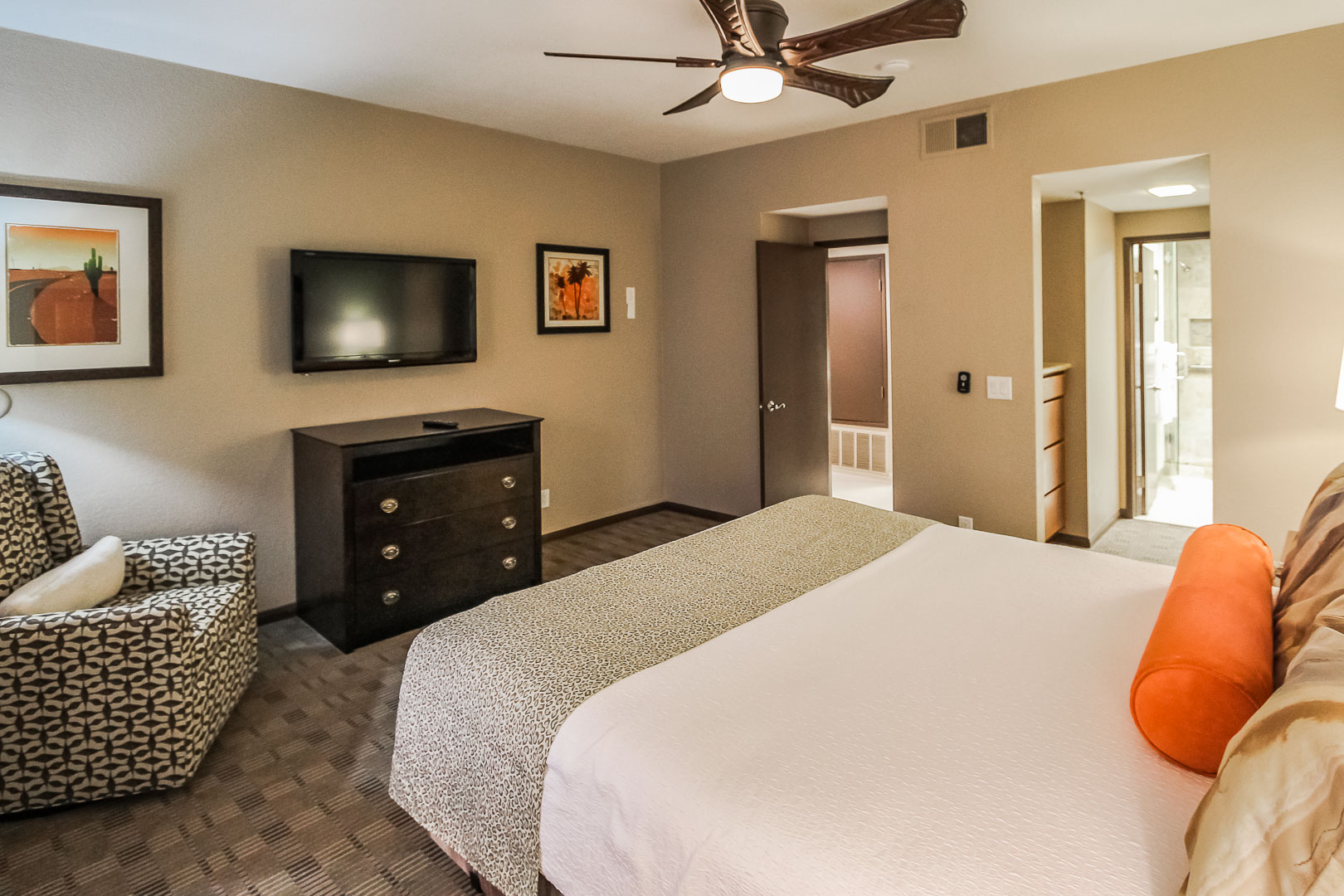 An expansive One bedroom unit at VRI's Desert Isle Resort in California.