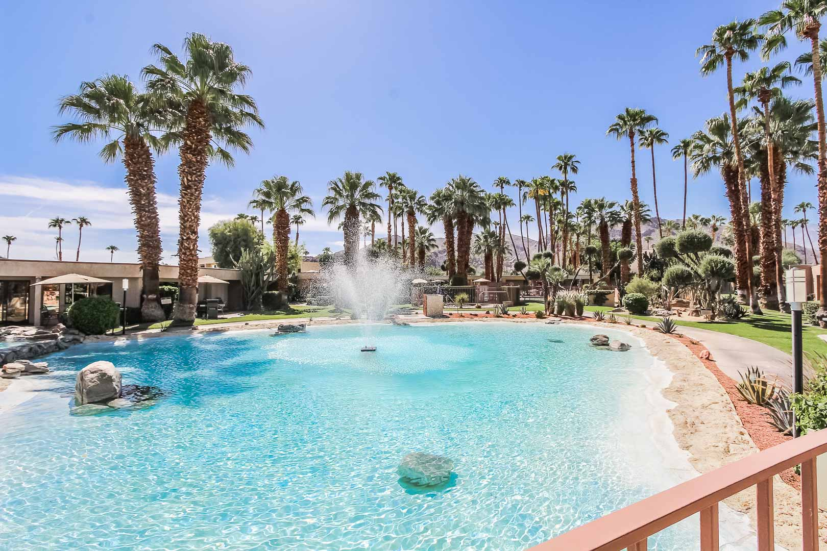 A refreshing outside view at VRI's Desert Isle Resort in California.