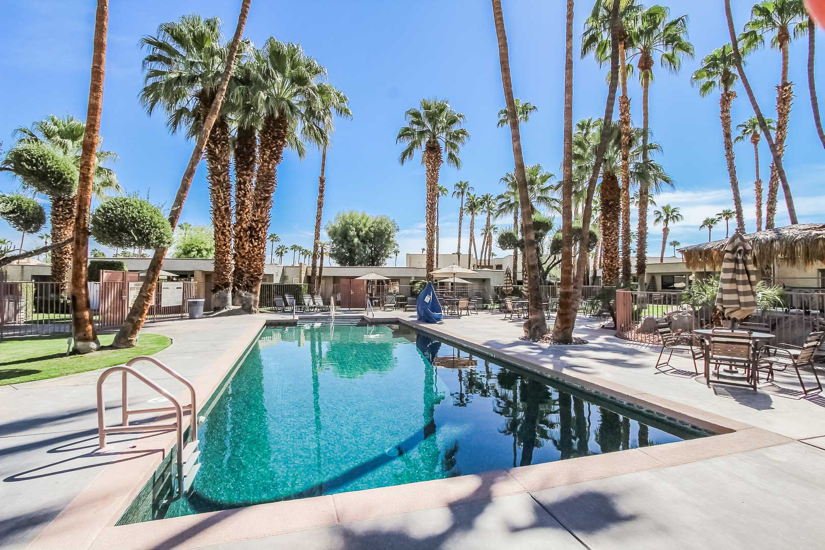 A refreshing outside view at VRI's Desert Isle Resort in California.