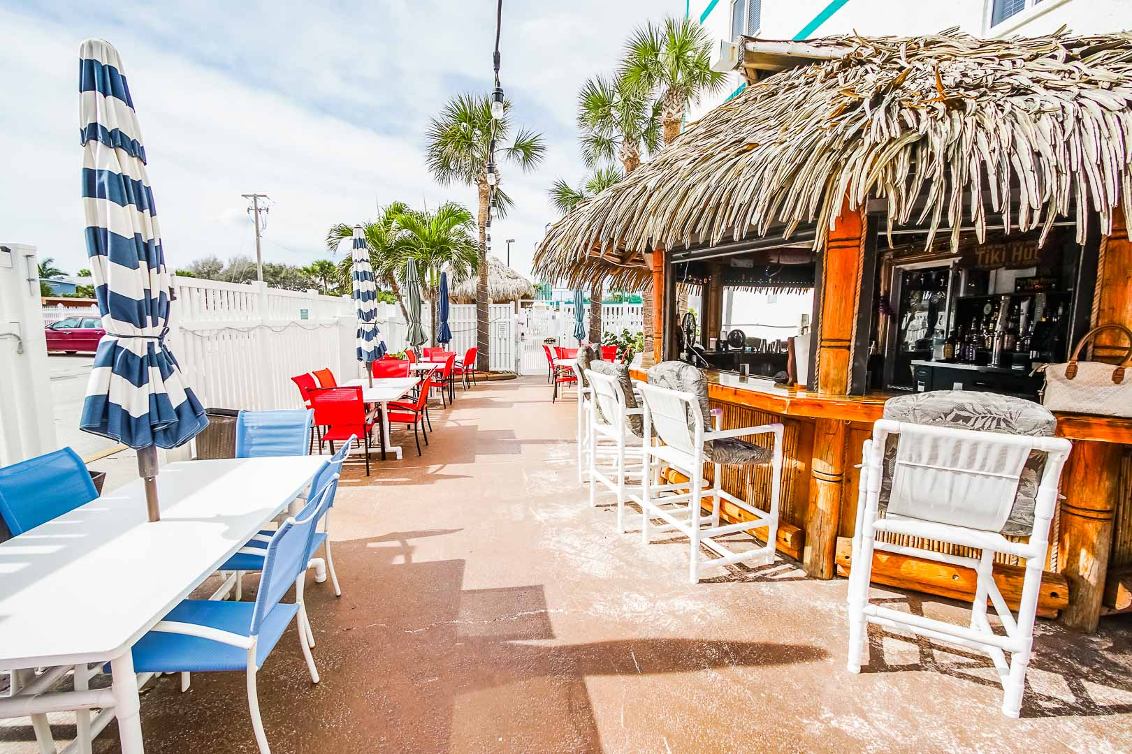 The restaurant onsite at VRI's Discovery Beach Resort in Cocoa Beach, Florida.