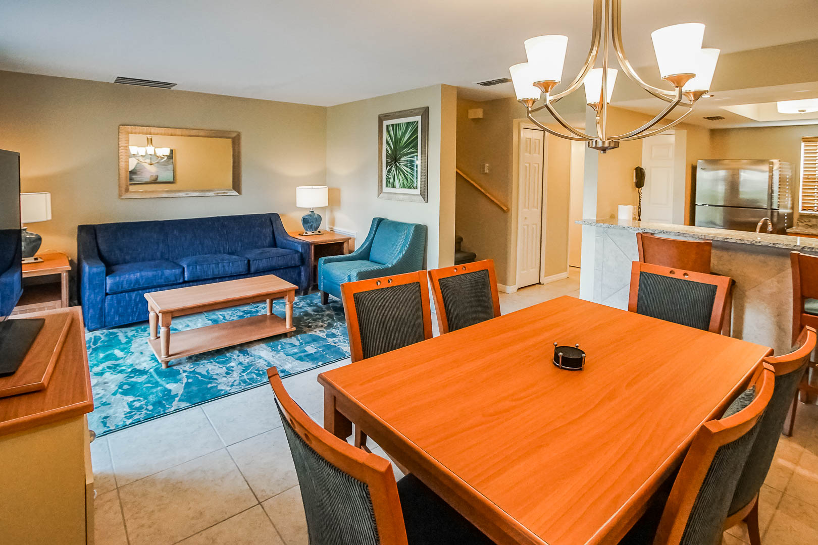 A modern living room at VRI's Fantasy World Resort in Florida.