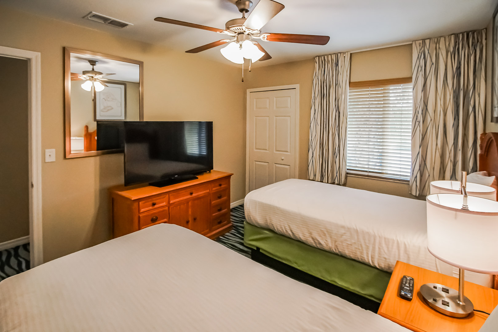 A spacious 2 bedroom unit at VRI's Fantasy World Resort in Florida.