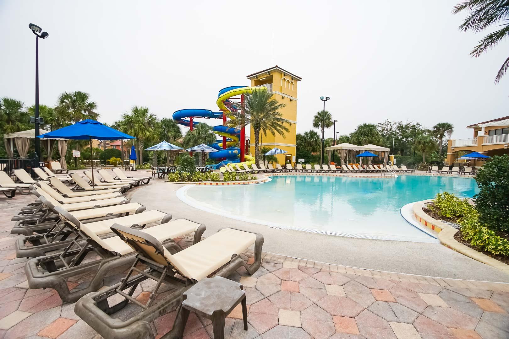 A fun filled water-slide at VRI's Fantasy World Resort in Florida.