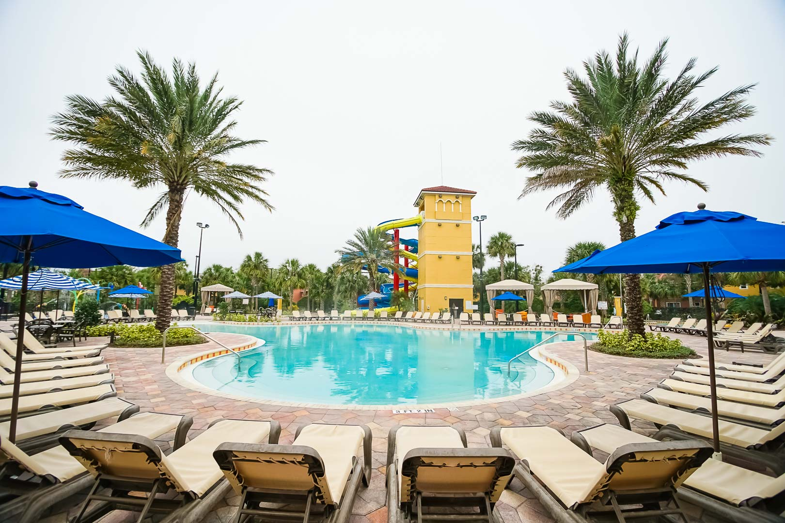 An inviting outdoor swimming pool at VRI's Fantasy World Resort in Florida.