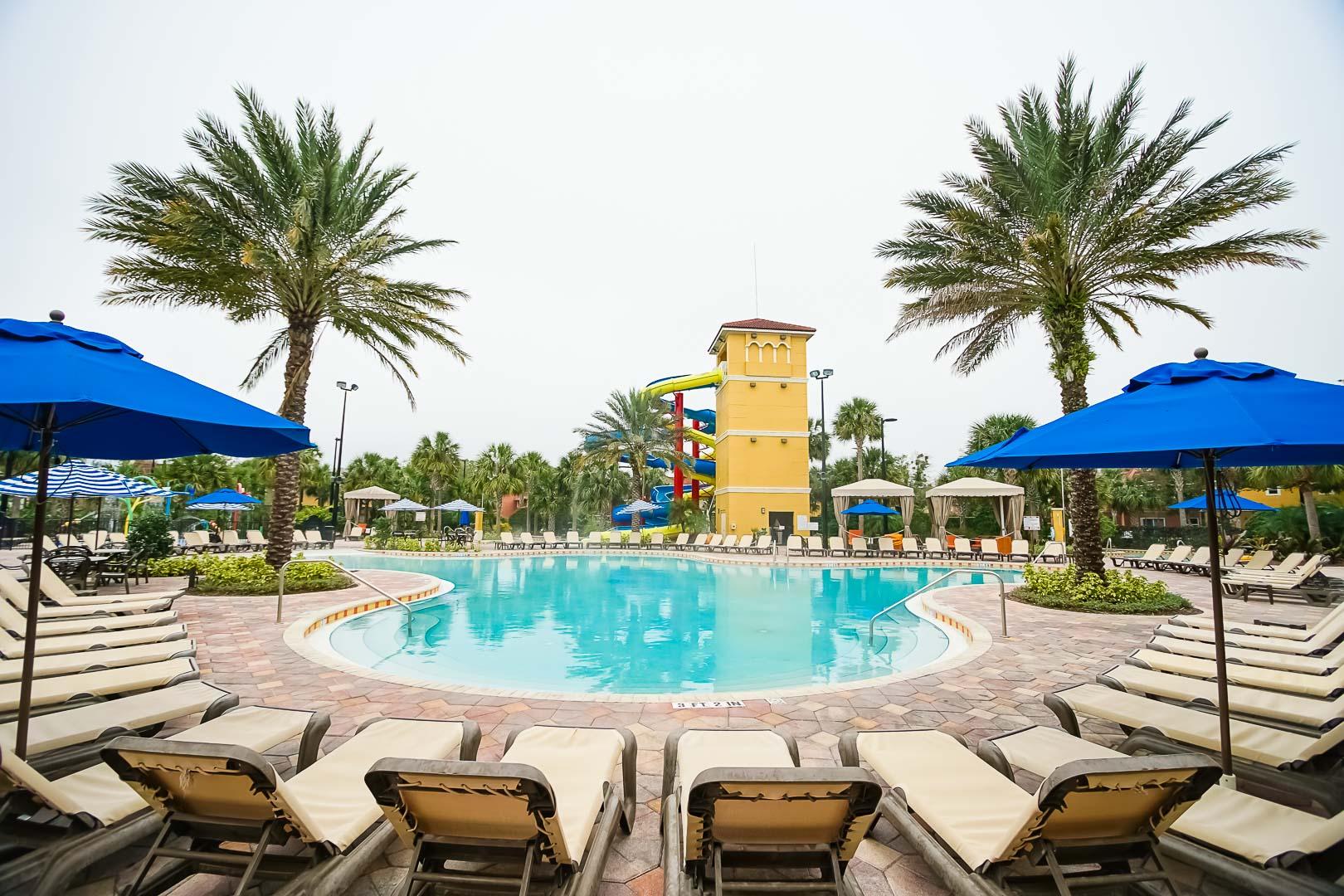 An inviting outdoor swimming pool at VRI's Fantasy World Resort in Florida.