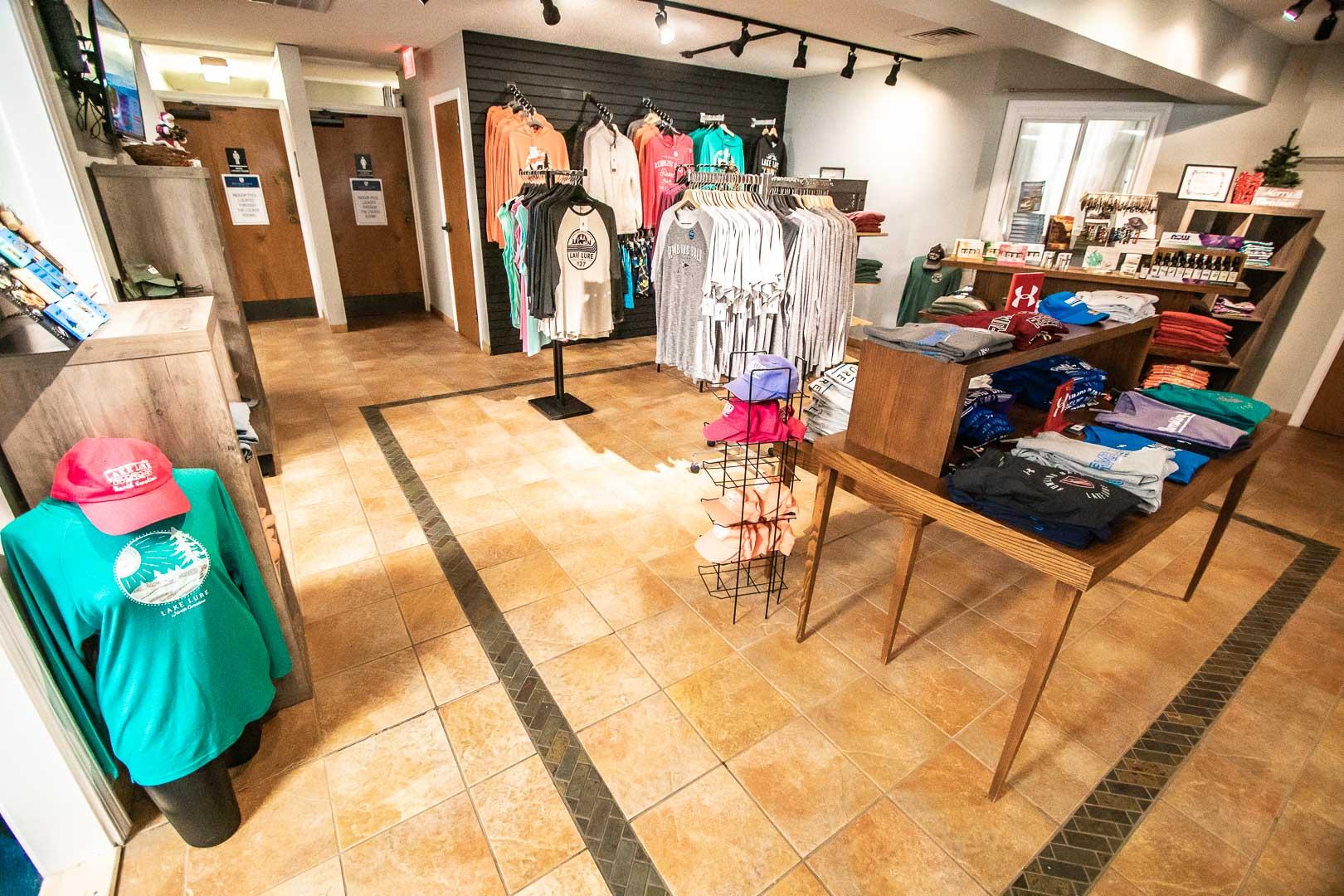 A convenience store available at VRI's Fox Run Resort in North Carolina.