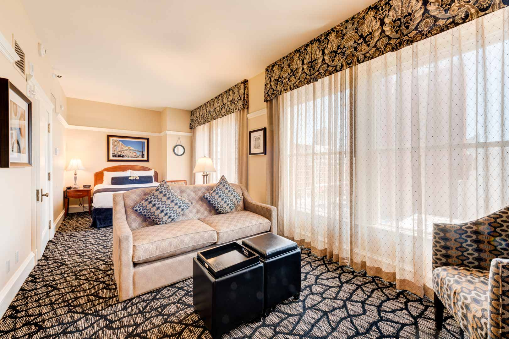 A spacious studio at VRI's Gaslamp Plaza Suites in San Diego, California.