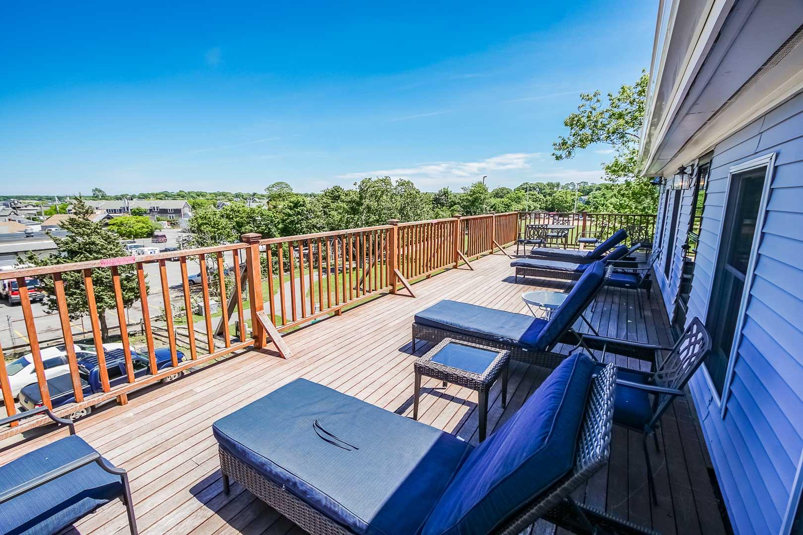 A scenic view of Vineyard Haven at VRI's Harbor Landing Resort in Massachusetts.