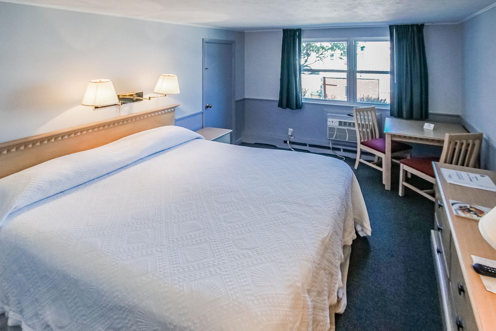 A cozy unit at VRI's Harbor Landing Resort in Massachusetts.