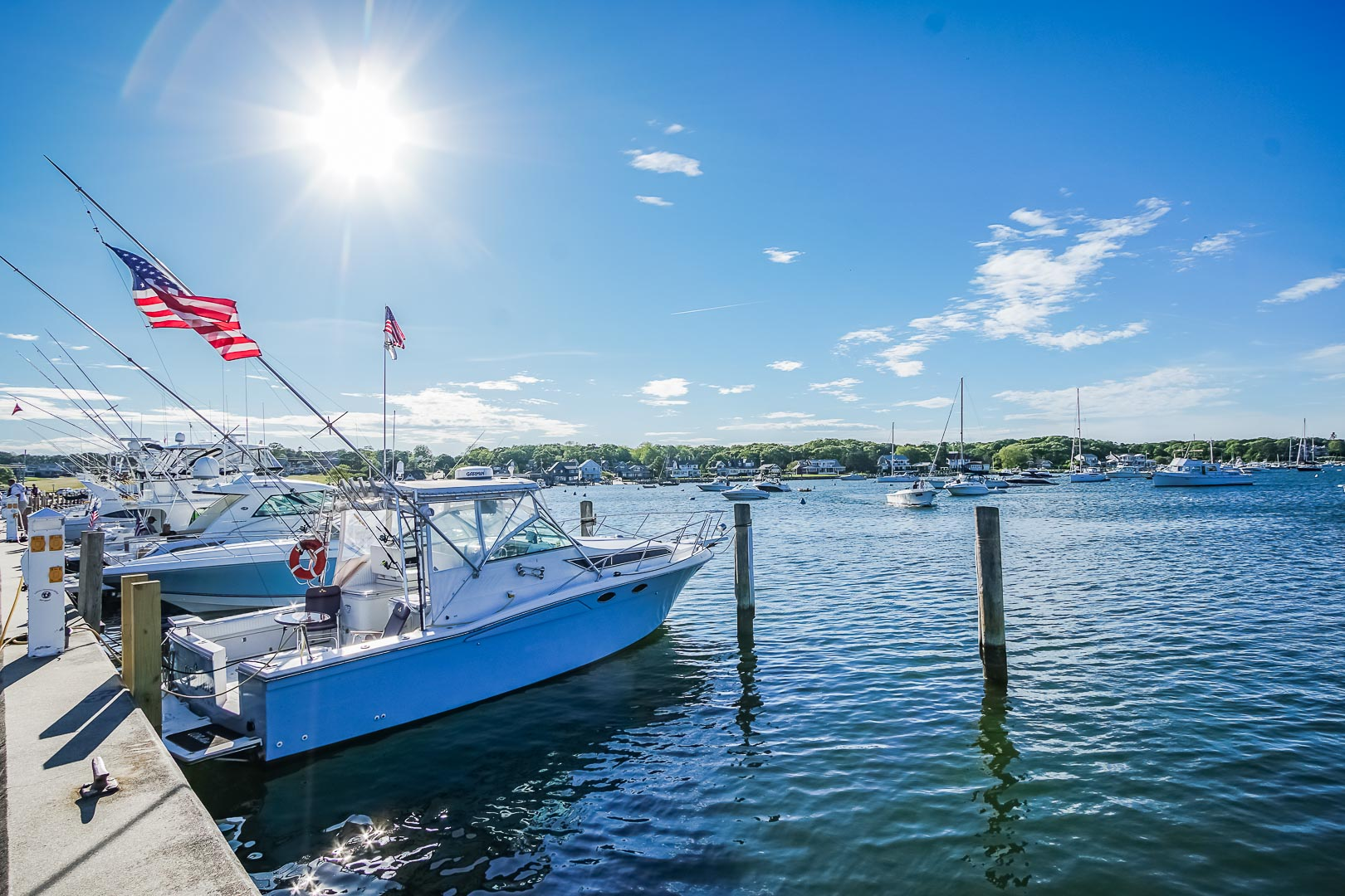 A beautiful and relaxing view from VRI's Harbor Landing Resort in Massachusetts.