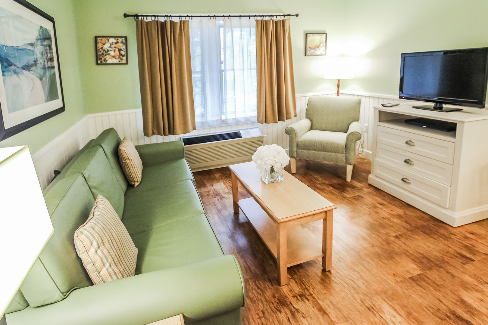 A cozy living room at VRI's Holly Tree Resort