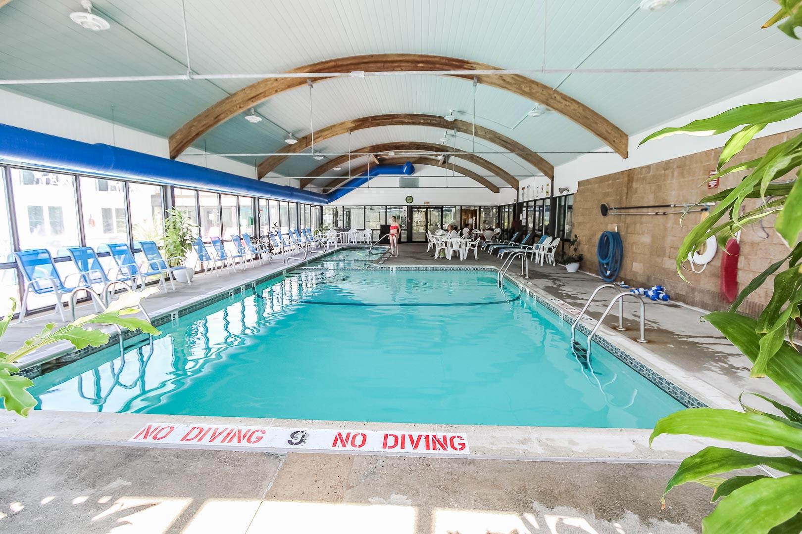 A quaint pool at VRI's Holly Tree Resort in Massachusetts.