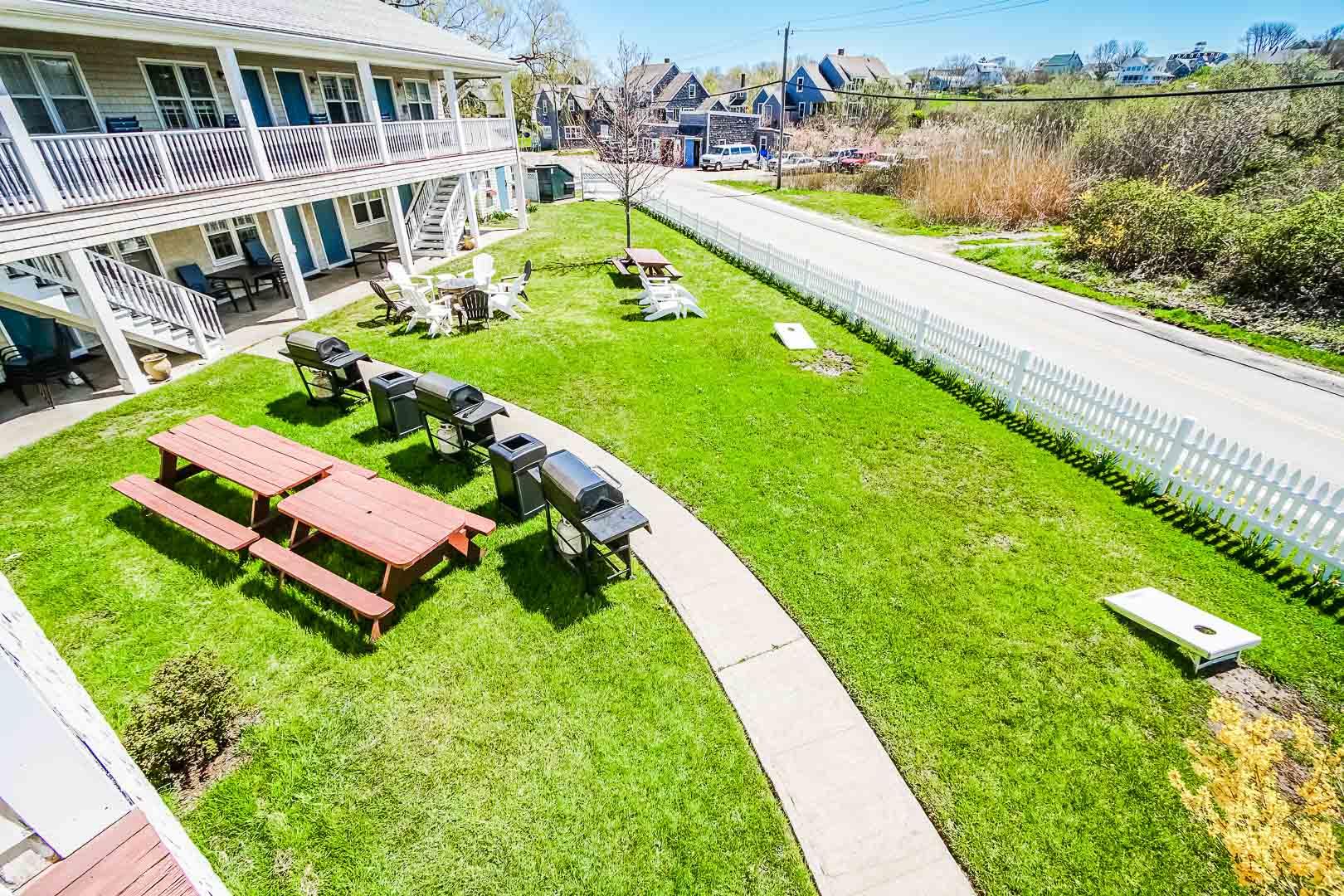 A beautiful view at VRI's Island Manor Resort in Rhode Island.