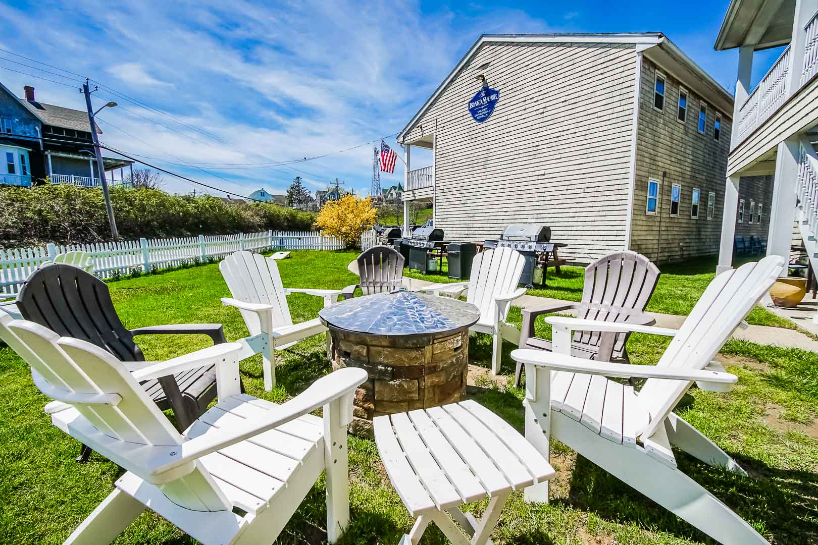 A relaxing view at VRI's Island Manor Resort in Rhode Island.
