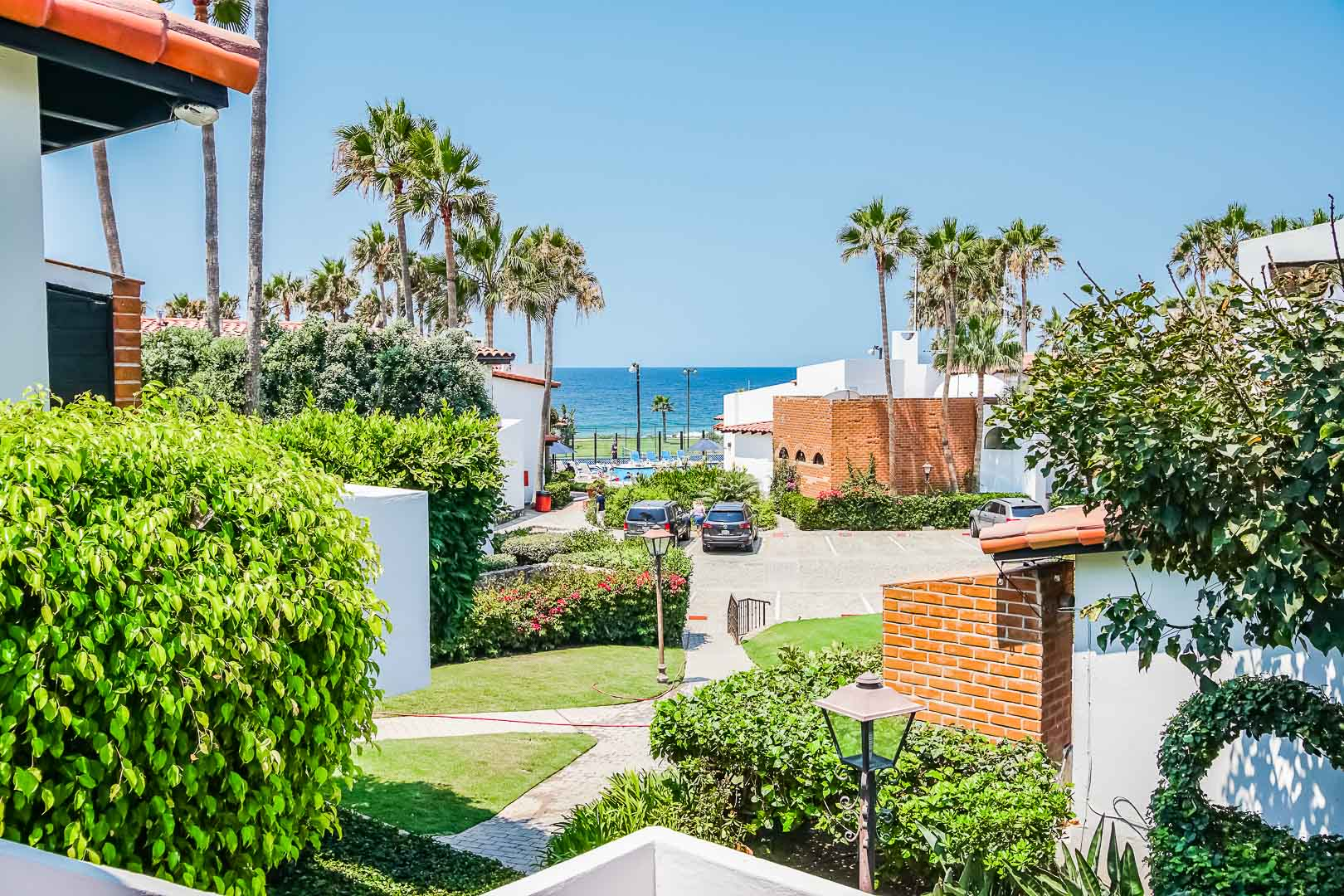 An outside view from the condominiums at VRI's La Paloma in Rosarito, Mexico.