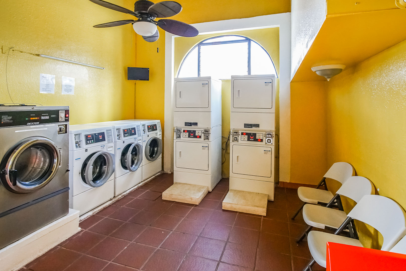 Laundry Facilities available at VRI's La Paloma in Rosarito, Mexico.