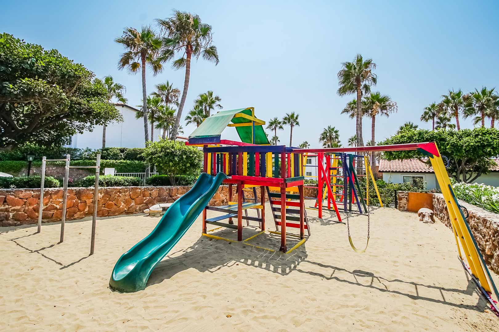 A children's playground at VRI's La Paloma in Rosarito, Mexico.
