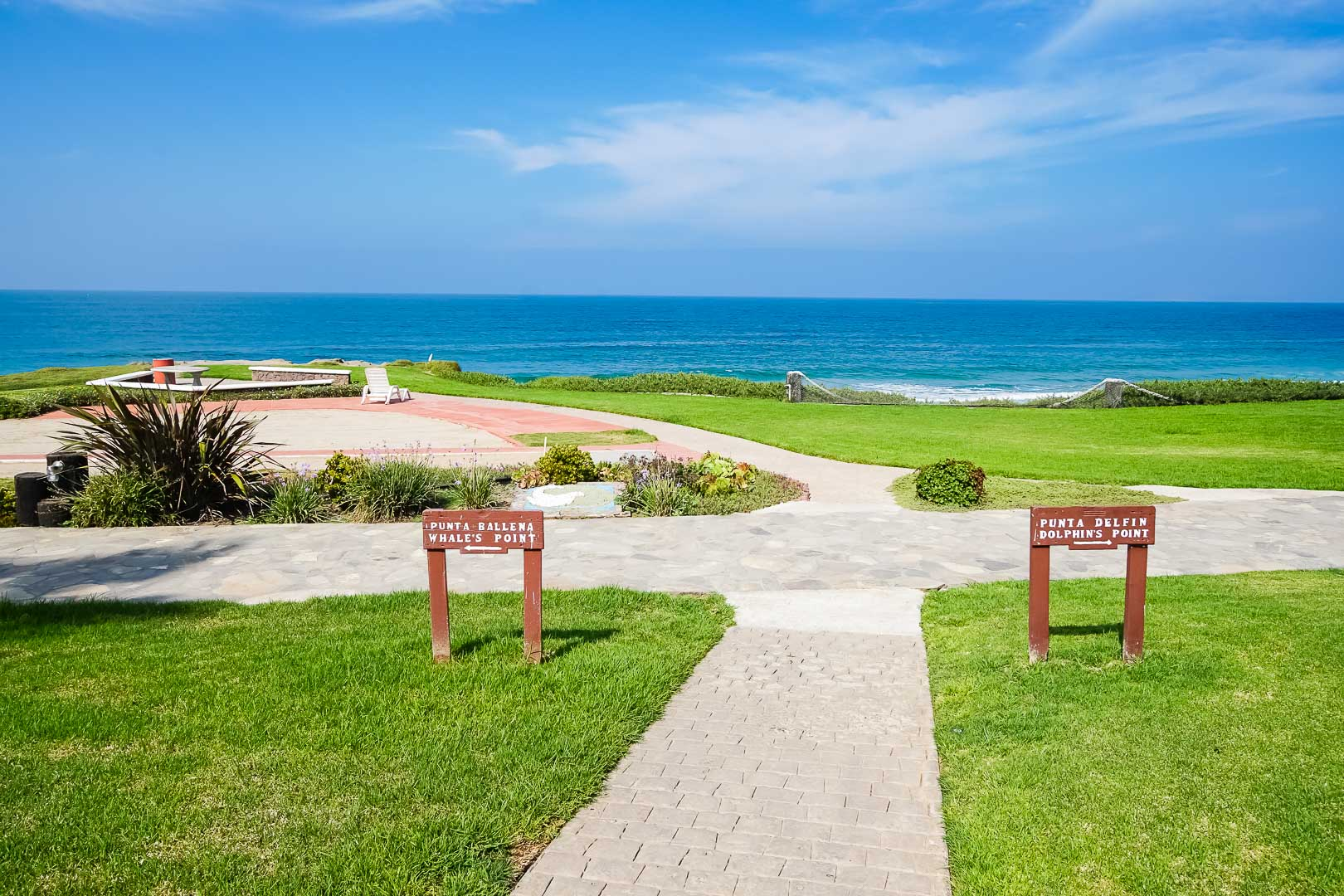 A peaceful view of the beach at VRI's La Paloma in Rosarito, Mexico.