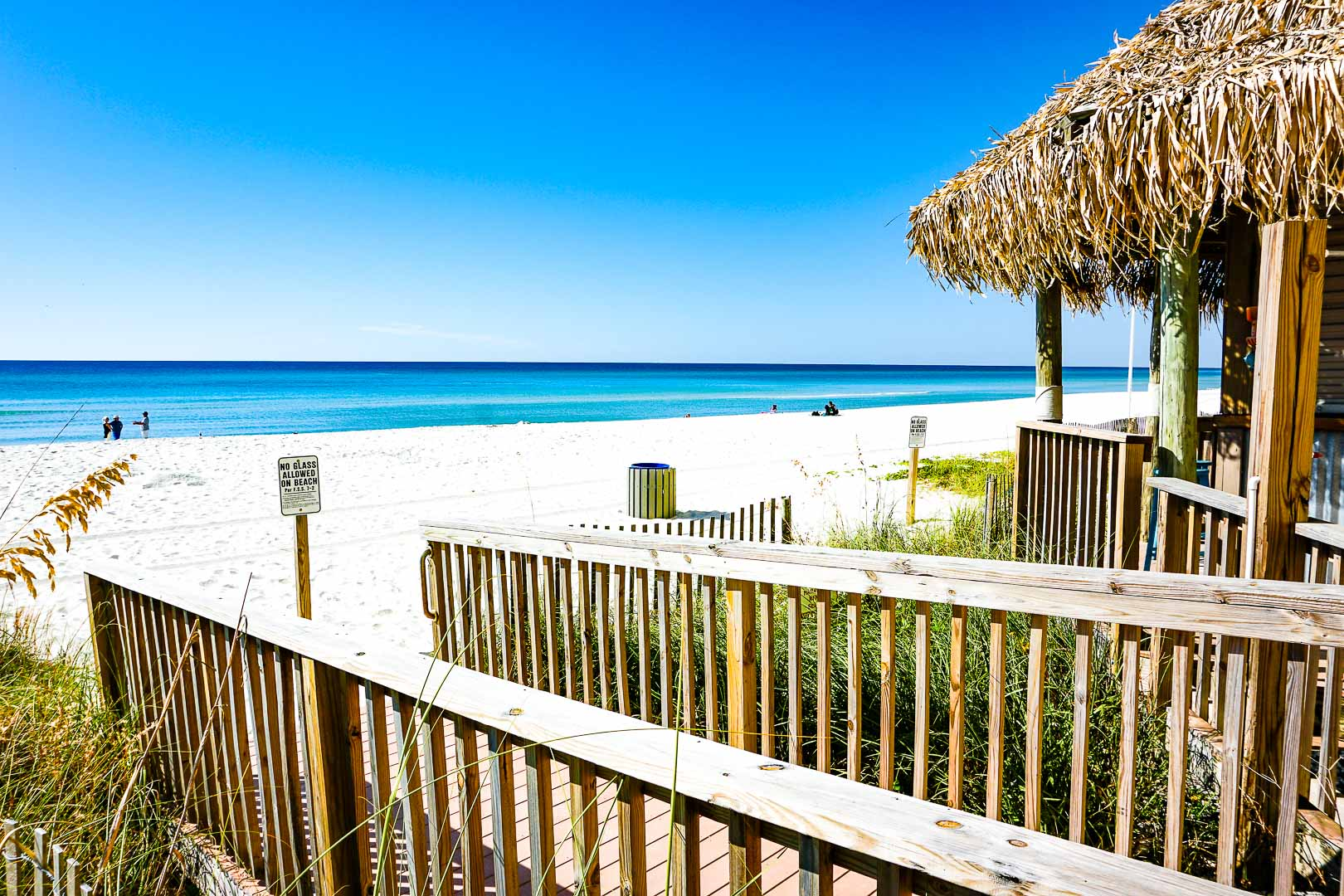 Access to the beach at VRI's Landmark Holiday Beach Resort in Panama City, Florida.