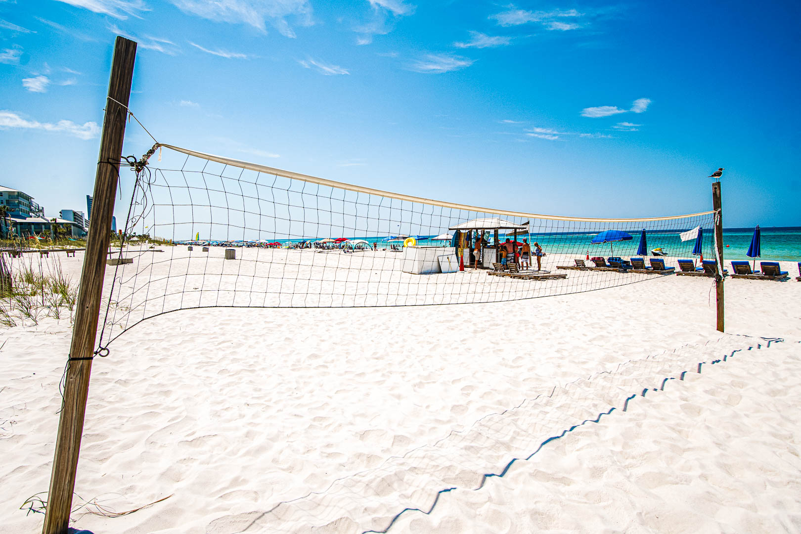 Volleyball onsite at VRI's Landmark Holiday Beach Resort in Panama City, Florida.