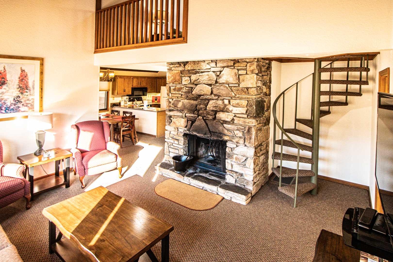 A spacious condo at VRI's Mountain Loft Resort in North Carolina.