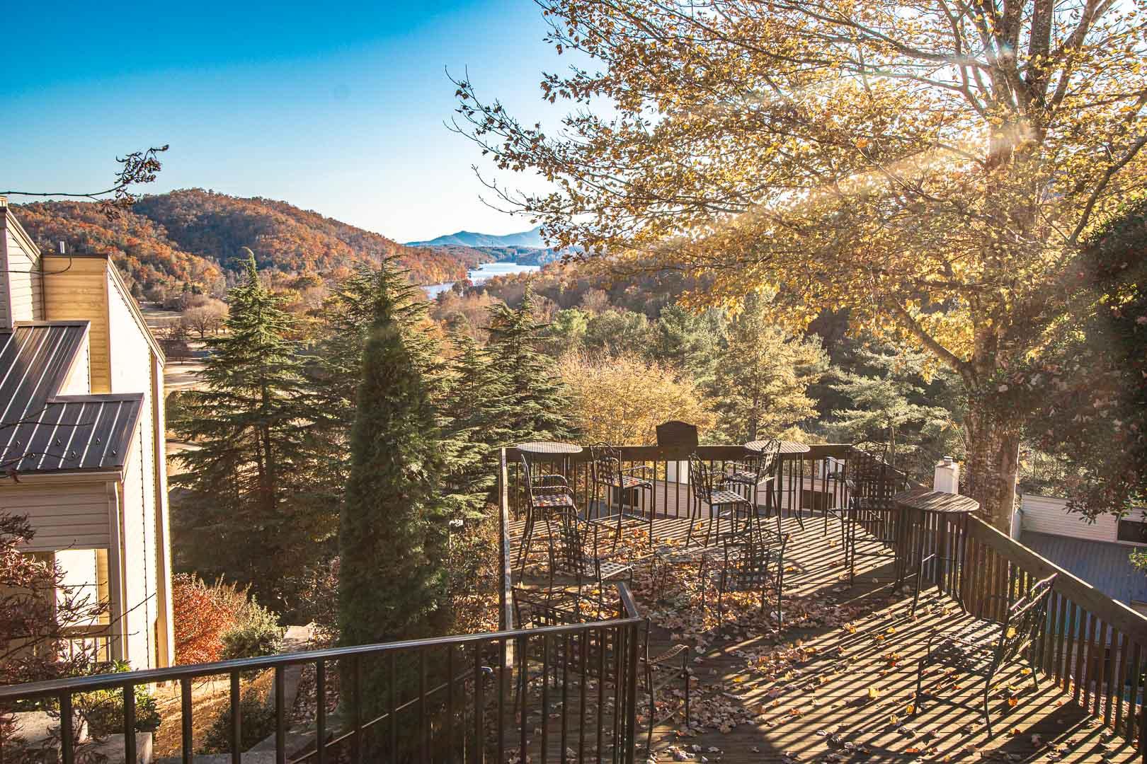 A scenic view at VRI's Mountain Loft Resort in North Carolina.