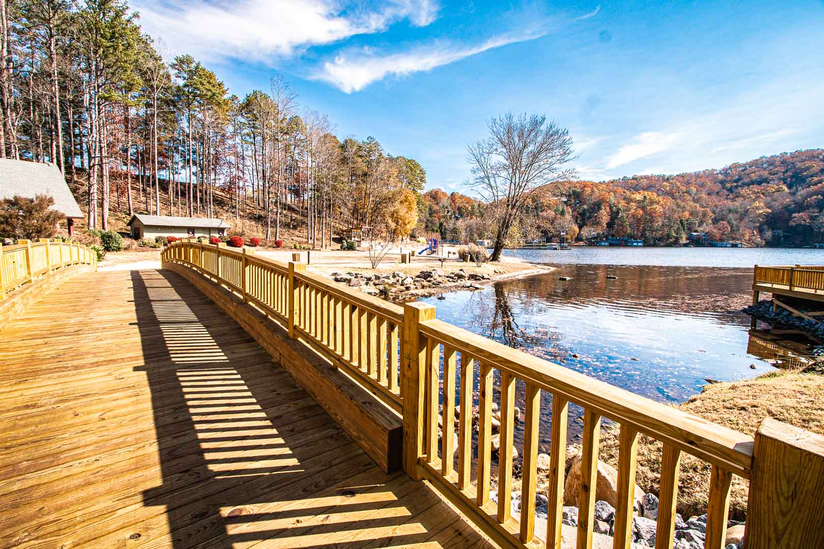 A relaxing view at VRI's Mountain Loft Resort in North Carolina.