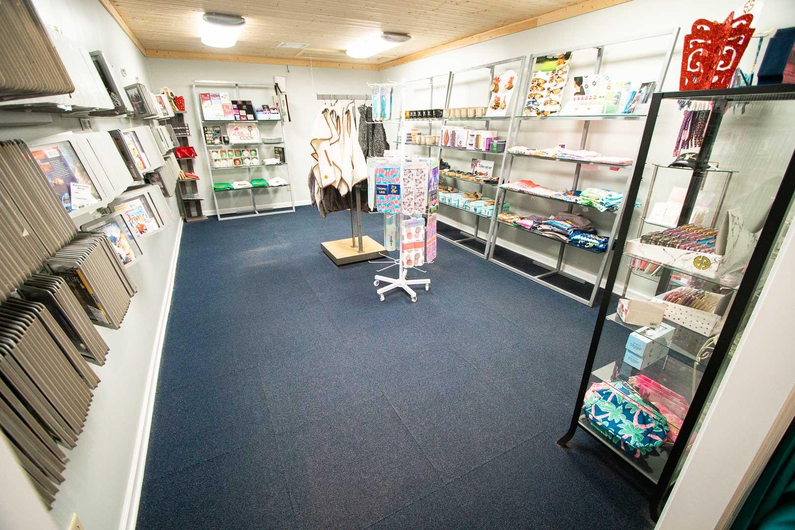 A convenience store available at VRI's Mountain Loft Resort in North Carolina.