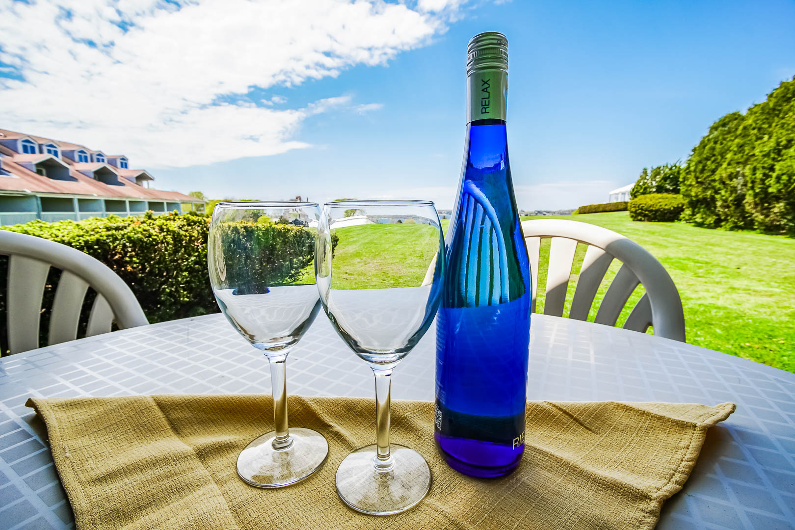 A refreshing balcony view at VRI's Oceancliff Resort in Rhode Island.