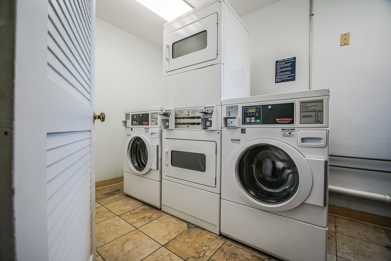 Laundry rooms available at VRI's Oceancliff Resort in Rhode Island.