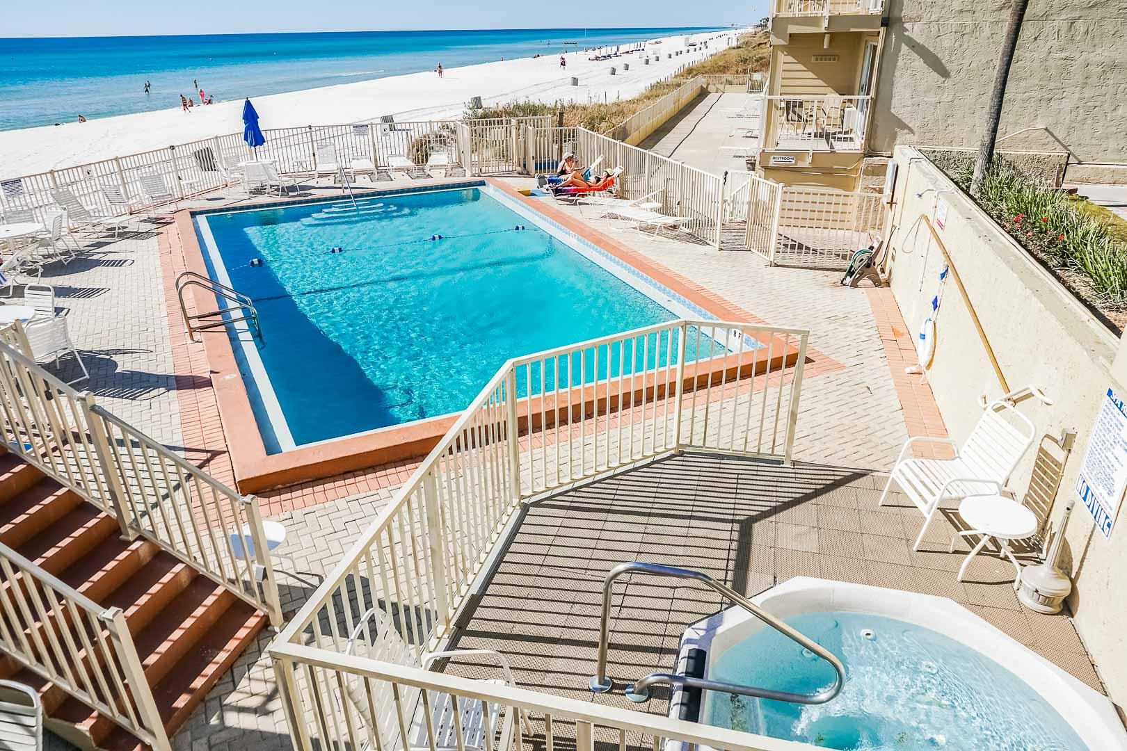 A crisp pool at VRI's Panama City Resort & Club in Florida.