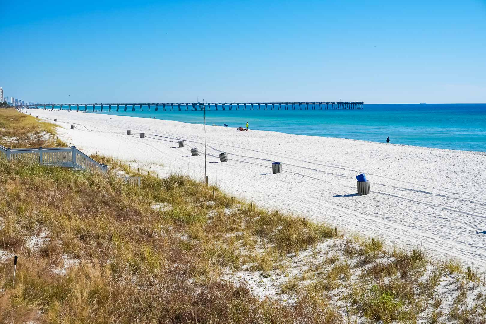 A scenic view with beach access at VRI's Panama City Resort & Club in Florida.