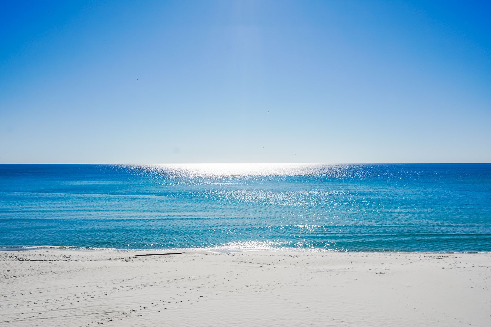 The soothing view of the beach from VRI's Panama City Resort & Club in Florida.