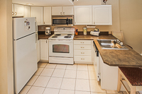 A fully equipped kitchen at VRI's Players Club Resort in Hilton Head Island, South Carolina.