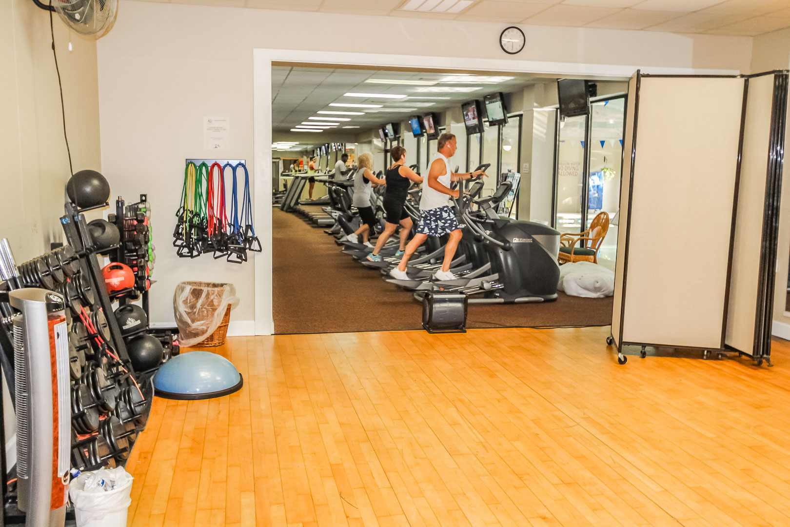 An exercise room at VRI's Players Club Resort in Hilton Head Island, South Carolina.