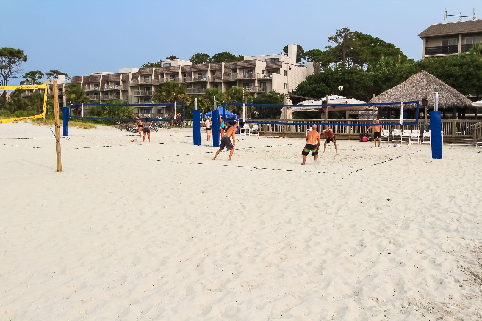 A beach view from VRI's Players Club Resort in Hilton Head Island, South Carolina.