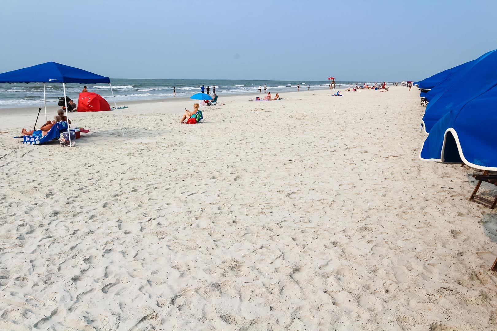An outside view at the beach at VRI's Players Club Resort in Hilton Head Island, South Carolina.