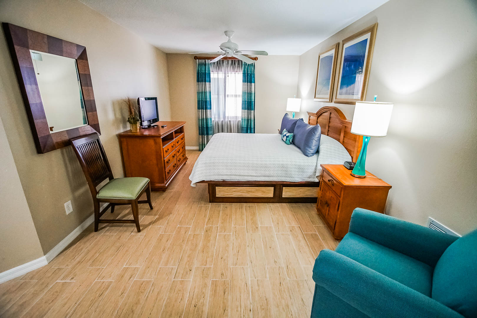 A pleasant 1 bedroom unit at VRI's The Resort on Cocoa Beach in Florida.