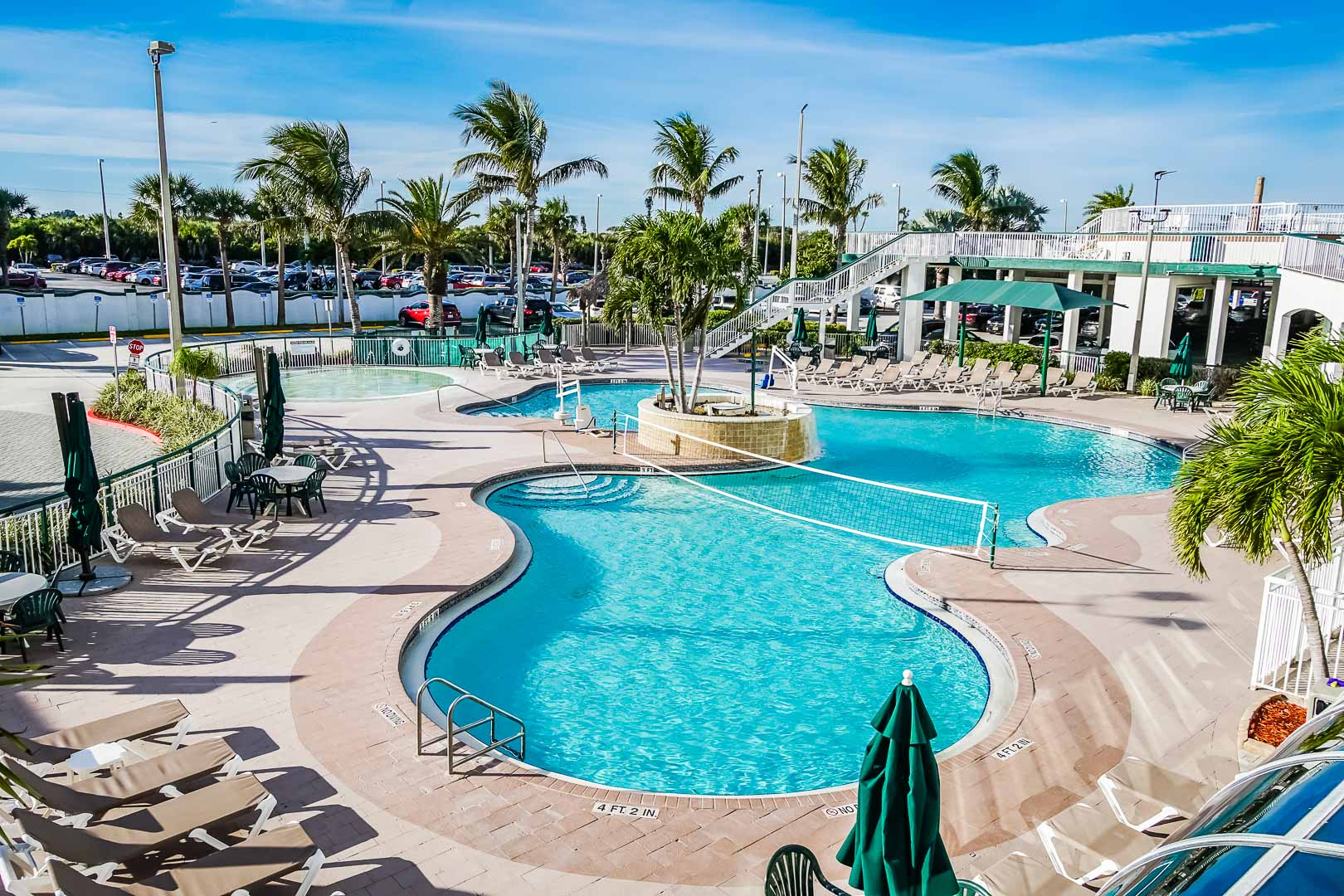 A crisp pool at VRI's The Resort on Cocoa Beach in Florida.
