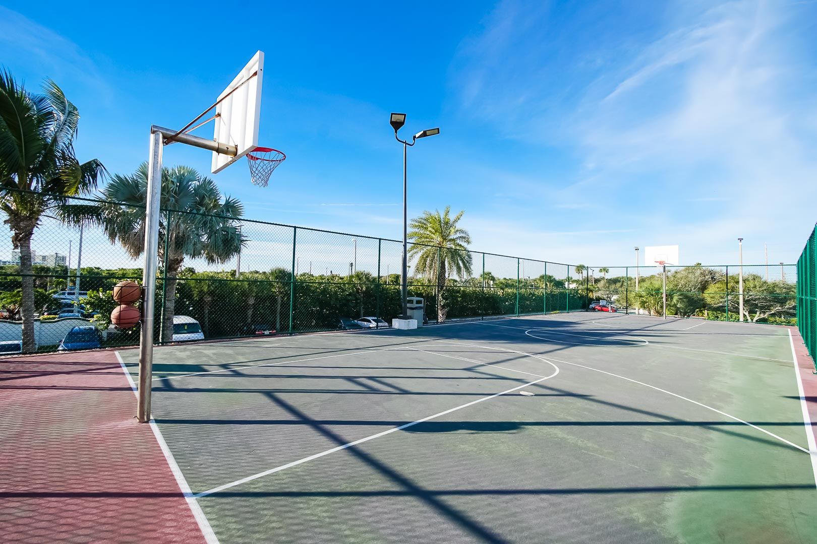 A traditional basketball court at VRI's The Resort on Cocoa Beach in Florida.