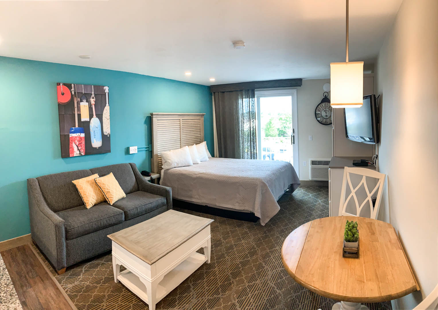 A modern one bedroom unit at VRI's Riverview Resort in Massachusetts.